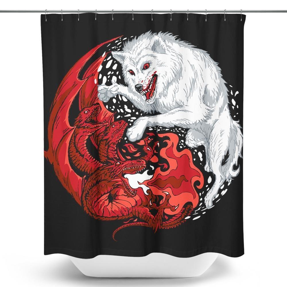 Ice Yang Wolf And Fire Yin Dragon