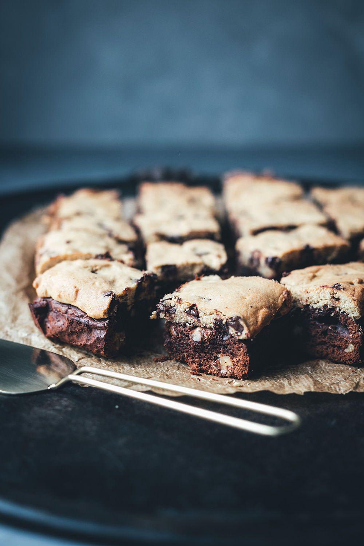 Brookies – das Beste aus Brownies und Cookies Rezept für Brookies - die perfekte Mischung aus Br