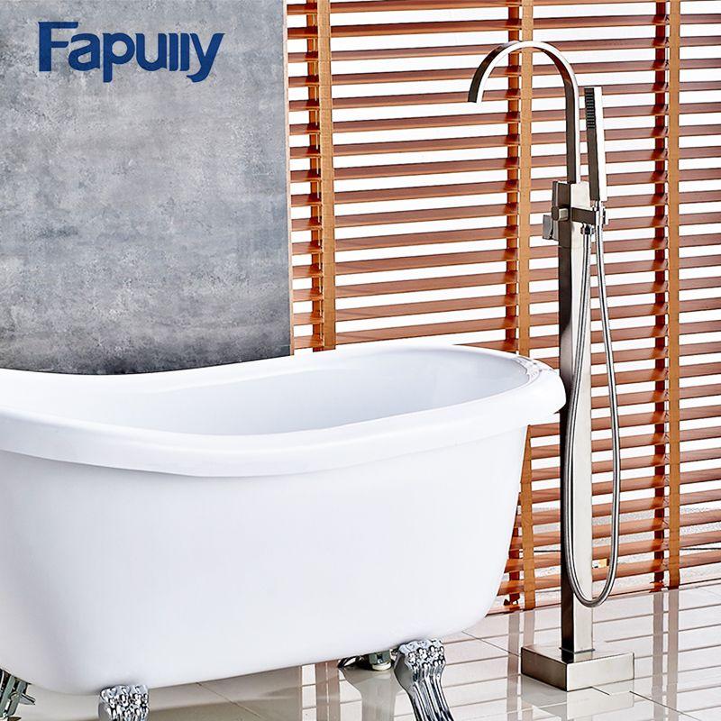 Fapully Bathroom Shower Set Modern Bath Tub Shower Faucet Filler ...