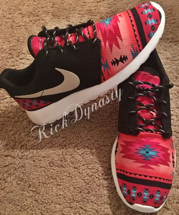 online store f7265 8cefd Brand new, authentic custom tribal x2F aztec Nike Roshe Run! These customs