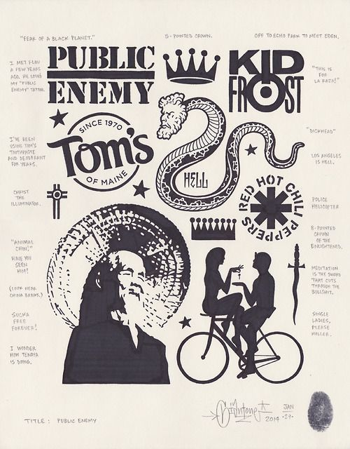 Public Enemy by Mike Giant, 2014.   Mike Giant   Pinterest   Ideen ...
