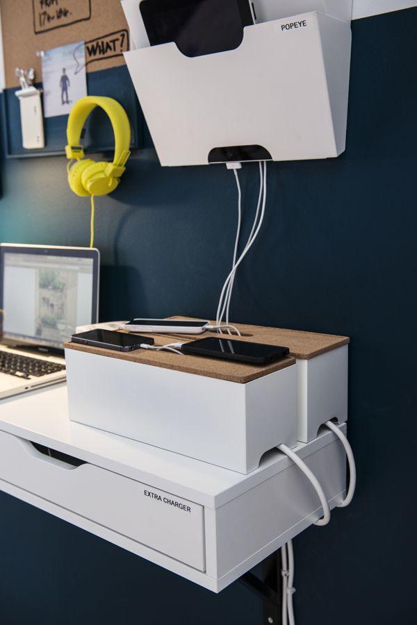Kvissle Desk Workspace Organizers Cable Management Box Cable Management Home Accessories