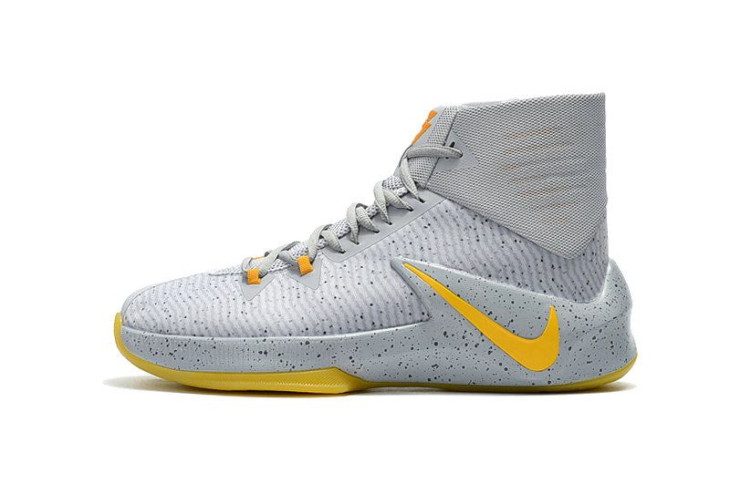 Wolf Grey University Gold Nike Zoom Clear Out PE 2016 2017 New Arrival Basketball Shoes