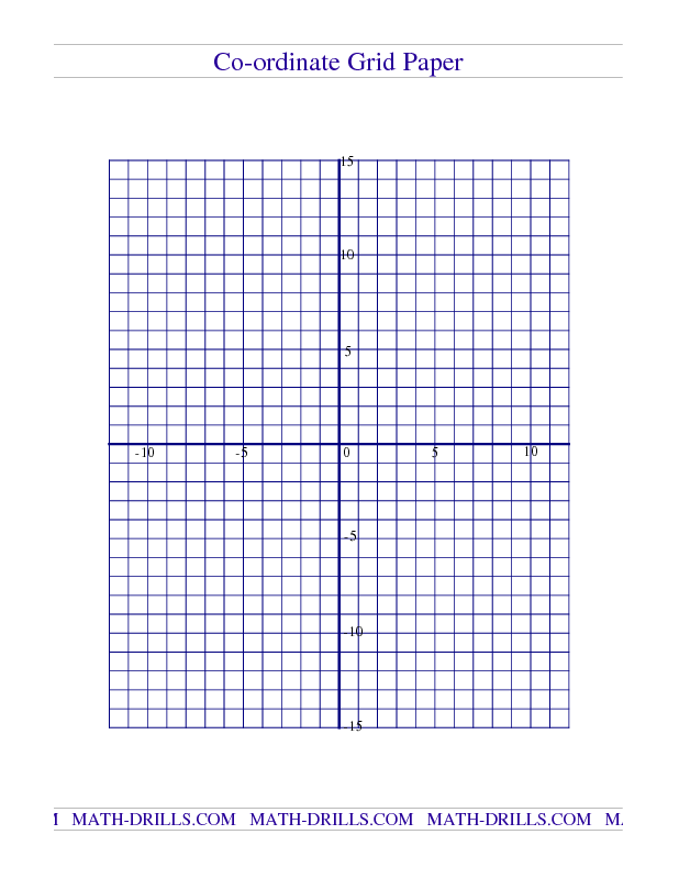 Free Math Worksheet -- Coordinate Grid Paper | Mrs. Spurling ...