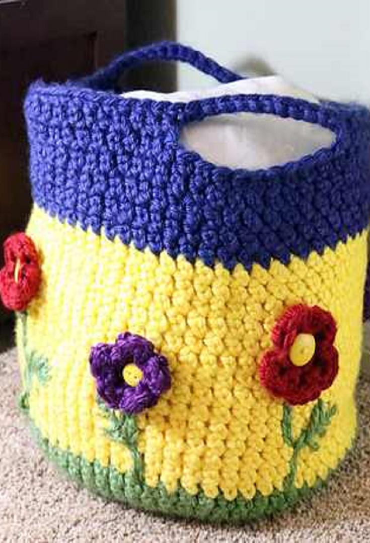 Crochet Pattern Stunning Crochet Flower Basket Crochet
