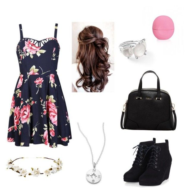 Date night by ainsleyhaas on Polyvore featuring polyvore, fashion, style, Ally Fashion, Furla, Dogeared, Ippolita, Cult Gaia, Eos and clothing