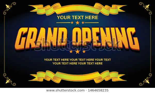 Grand Opening Vector Editable Sign Banner Stock Vector Royalty Free 1464658235 Grand Opening Banner Vector