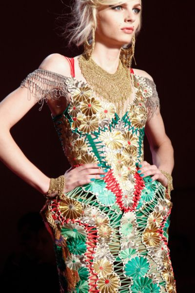 Andrej Pejic on the runway for Jean Paul Gaultier Haute Couture, Spring 2012