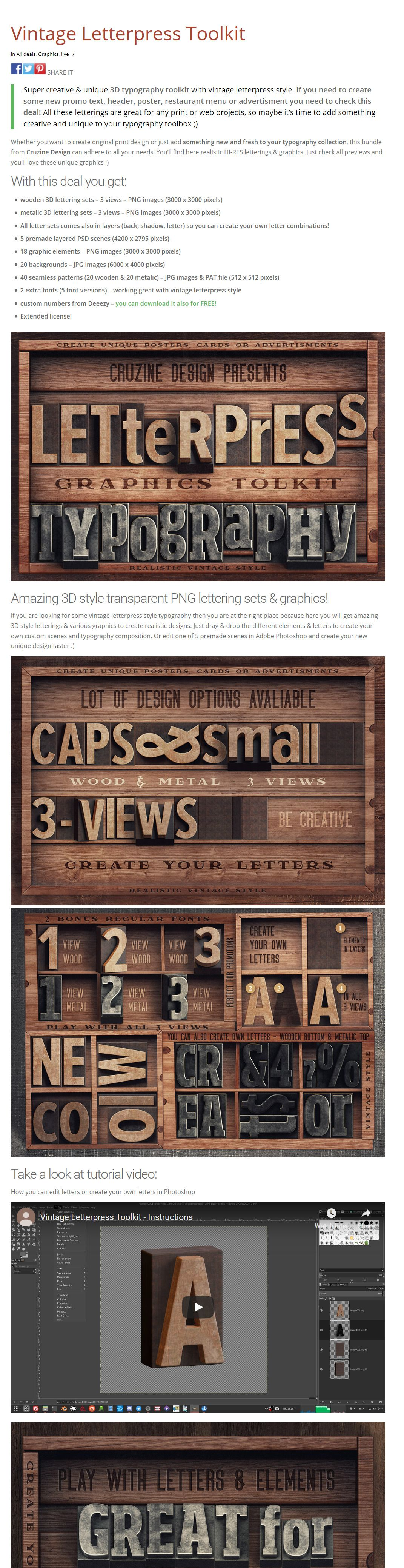 #New ✨ Vintage Letterpress Toolkit #3dtypography
