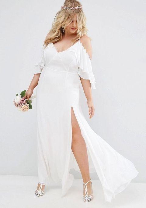 b6c4c21c360 20 Flirty Cold Shoulder Wedding Dresses