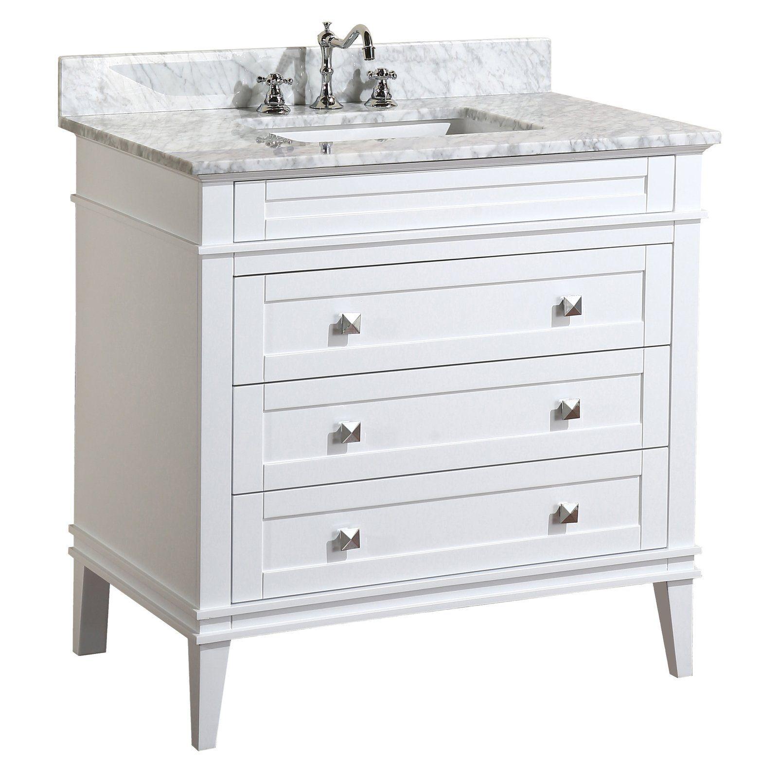 Eleanor 36 Inch Vanity With Carrara Marble Top 36 Inch Bathroom Vanity 36 Inch Vanity Single Bathroom Vanity