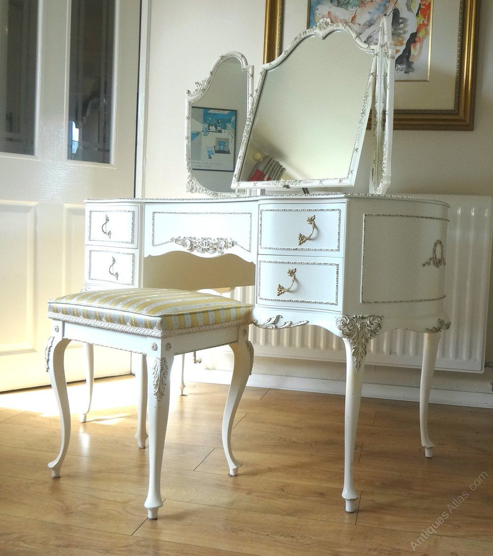 Antiques Atlas French Louis Dressing Table Stool Dressing  # Atlas Buffet Laque Blanc