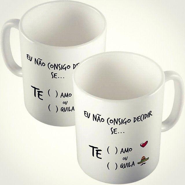 Não sei se TE amo ou TE quila :P  Visite o site www.stamptag.com.br Siga @stamptag  #canecas #presente #personalizadas #tanlup #comprodequemfaz #decor #pagseguro #tequila #frases #humor