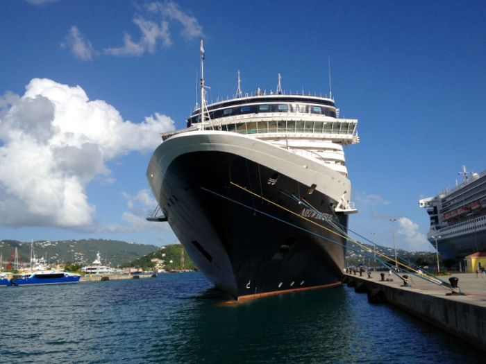 The #Nieuw Amsterdam at Crown Bay Dock in #St.Thomas, USVI