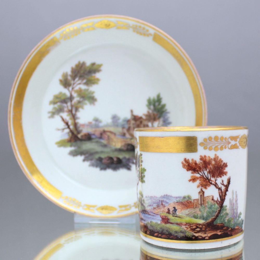 Wien um 1825 Tasse mit feiner Landschaft, Kaffeetasse