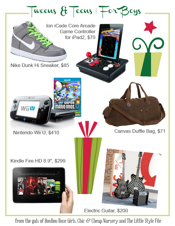gifts for tween & teen boys! #teens #tweens #gifts #boys | holiday ...