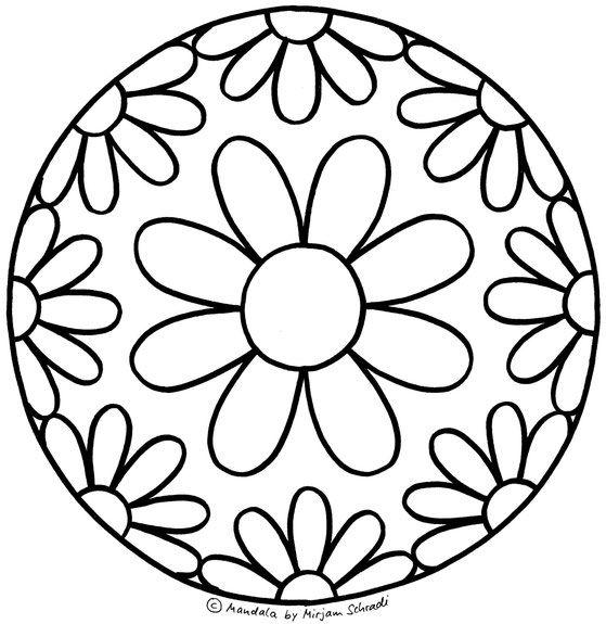 Mandalas Zum Ausdrucken Und Ausmalen Fur Kindergartenkinder Vorschule Ausmalbilder Vorlage 1 Blumen Mandala Design Art Stone Painting Mosaic Patterns