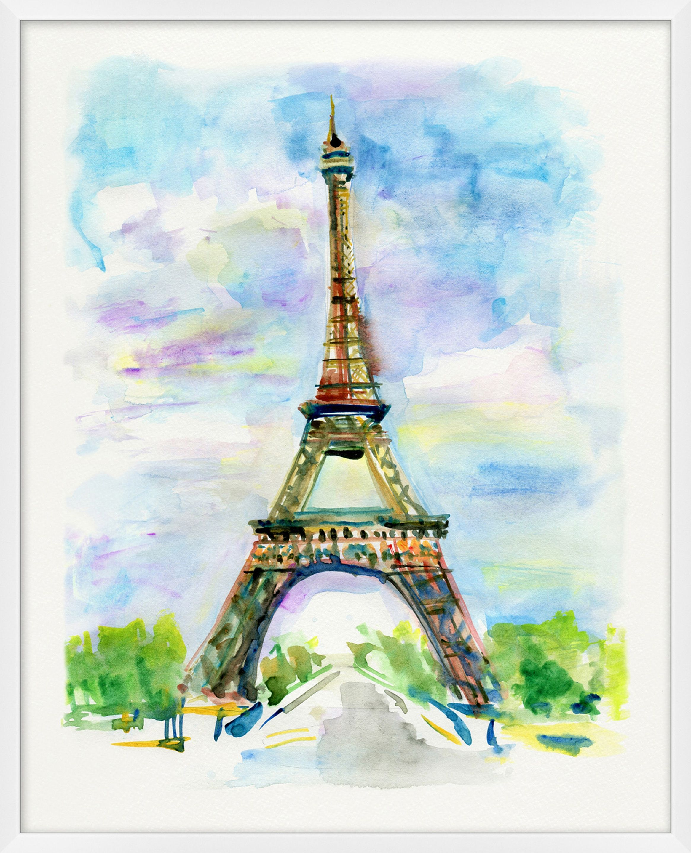Giclee Eiffel Tower Wall Art Eiffel Tower Painting Eiffel Tower