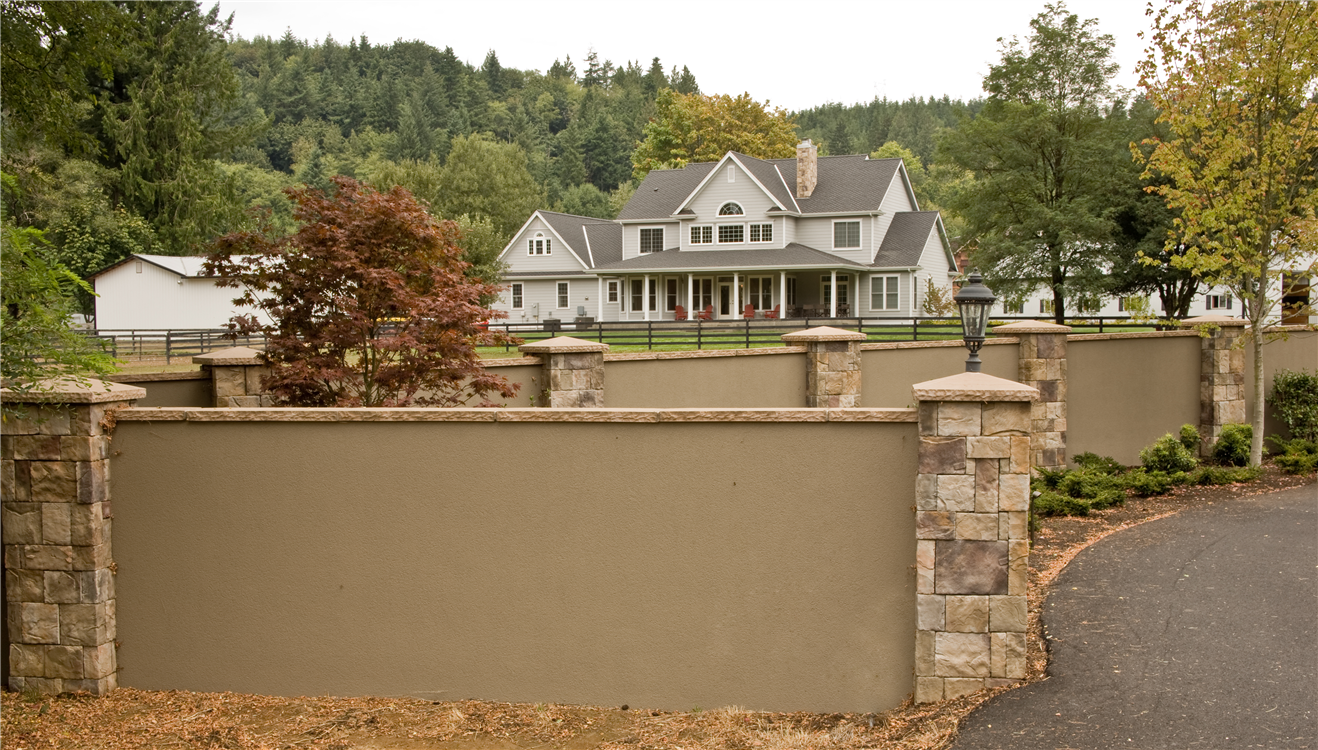 Pin by shelly hanson on backyard inspirations in 2019 - How to stucco exterior cinder block walls ...