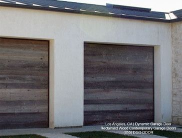 Contemporary Garage Doors Crafted In Rustic Reclaimed Wood Modern