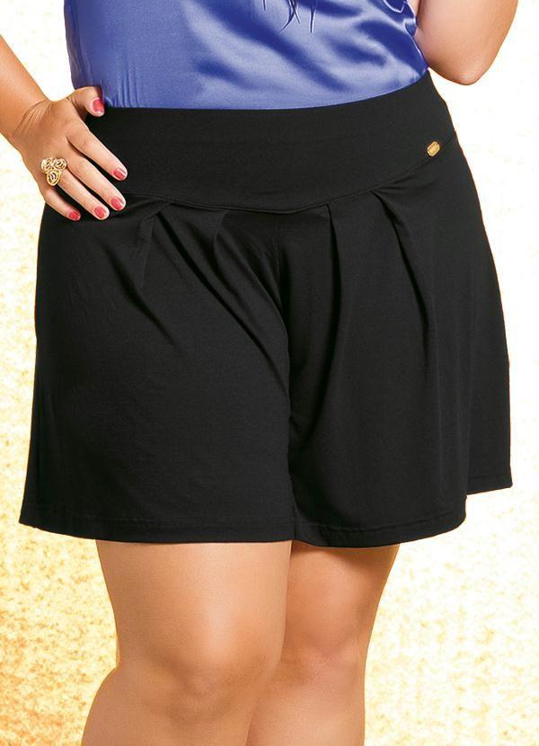 59e501988 Short Saia Plus Size Preto - Quintess