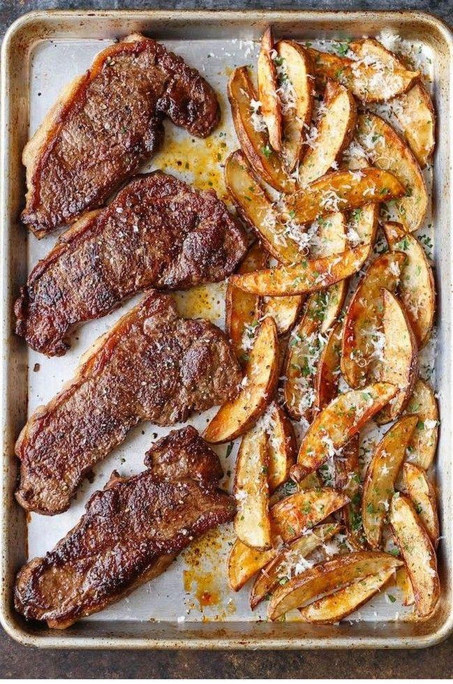 Photo of Sheet Pan Steak And Fries | Tasty Food
