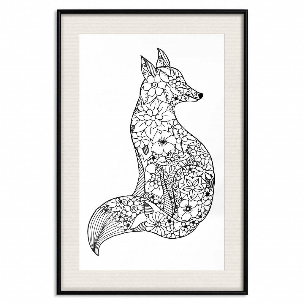 Plakat Lis W Kwiaty Poster Animal Tattoo Animals Diy