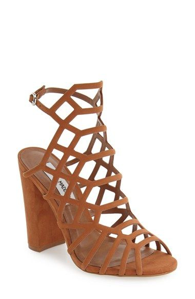 e4469f728fe Free shipping and returns on Steve Madden  Skales  Cage Sandal (Women) at  Nordstrom.com. A dramatic strappy cage of supersoft nubuck leather lifted  by a ...