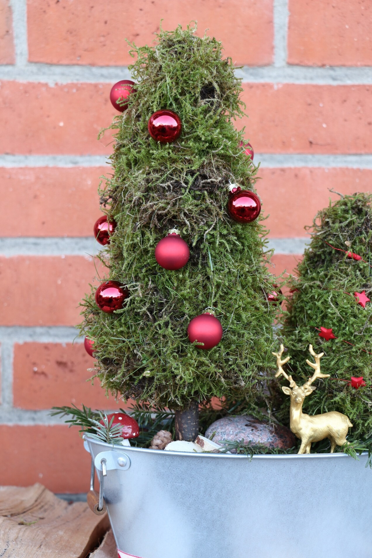 Moos Tannenbaume Diy Fur Ein Adventsgesteck Lavendelblog Weihnachtlich Dekorieren Adventsgesteck Diy Weihnachten