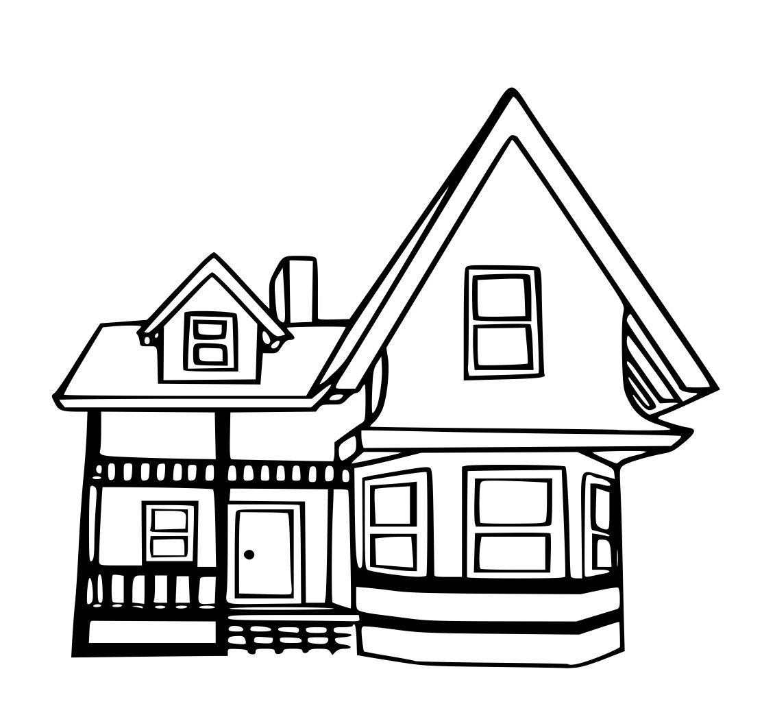 Coloring book real estate - Up House Coloring Page