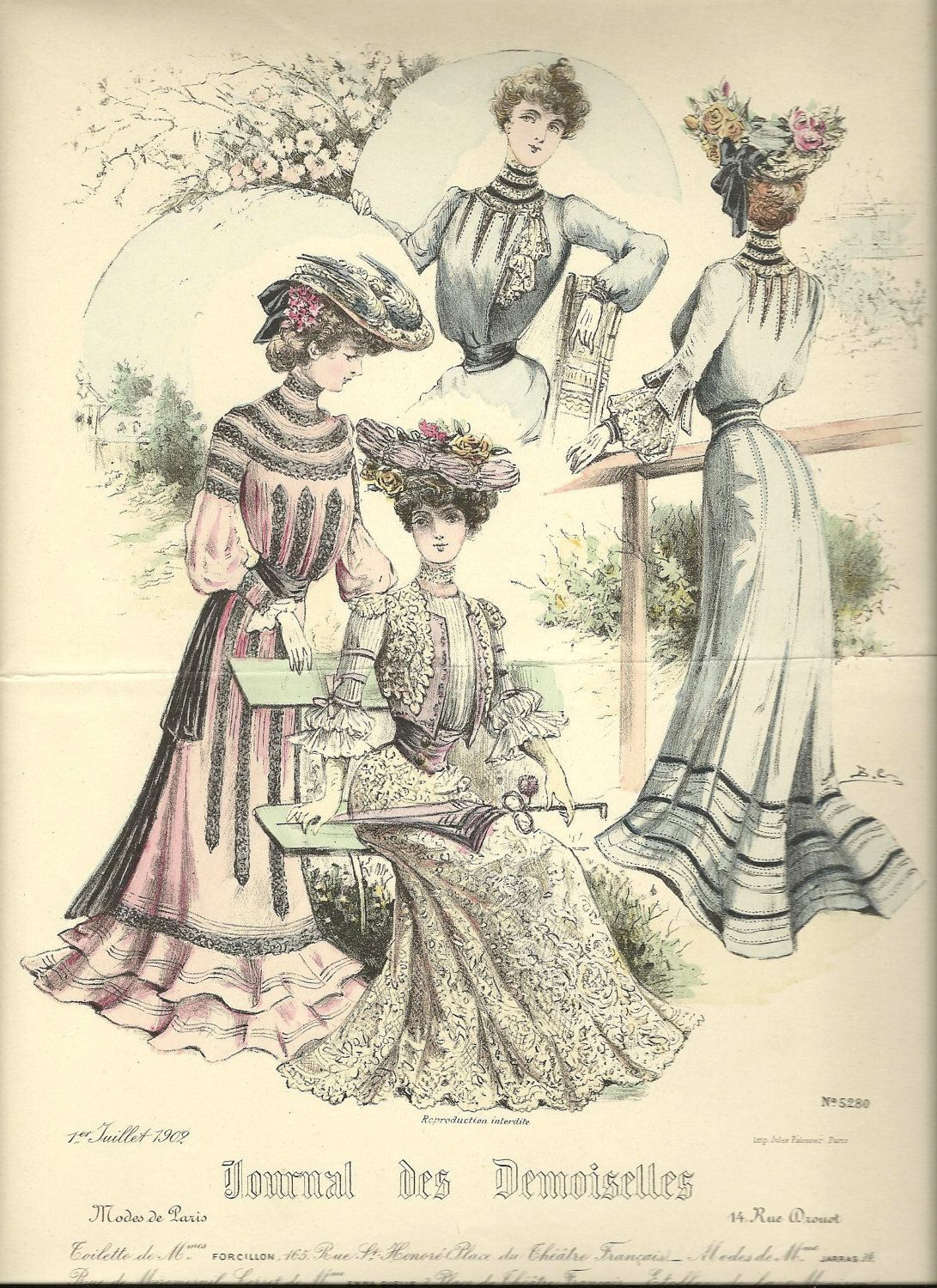 french belle epoque fashion plate - Belle epoque clothes, dress ...