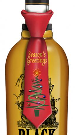 Season's Greetings Tie Bottle Topper has blinking lights H ...