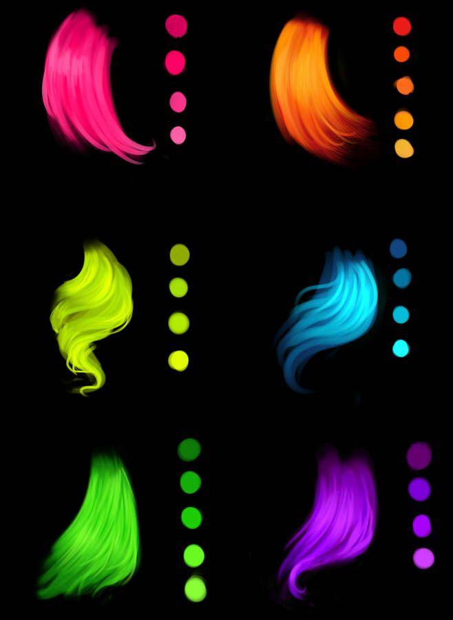 Photo of Палитры для рисования волос в SAI и Photosop