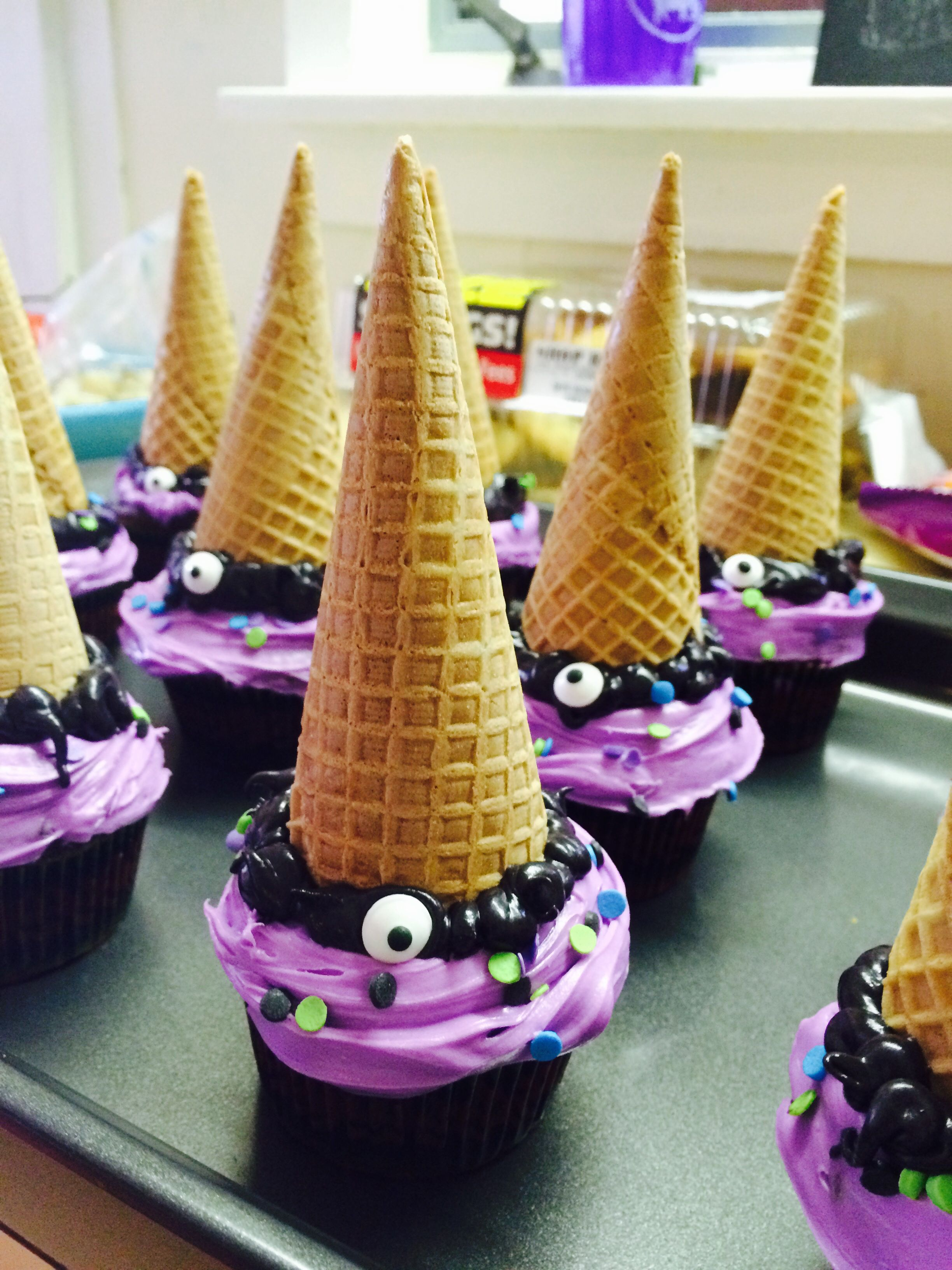 One eyed one horned flying purple people eater cupcakes!