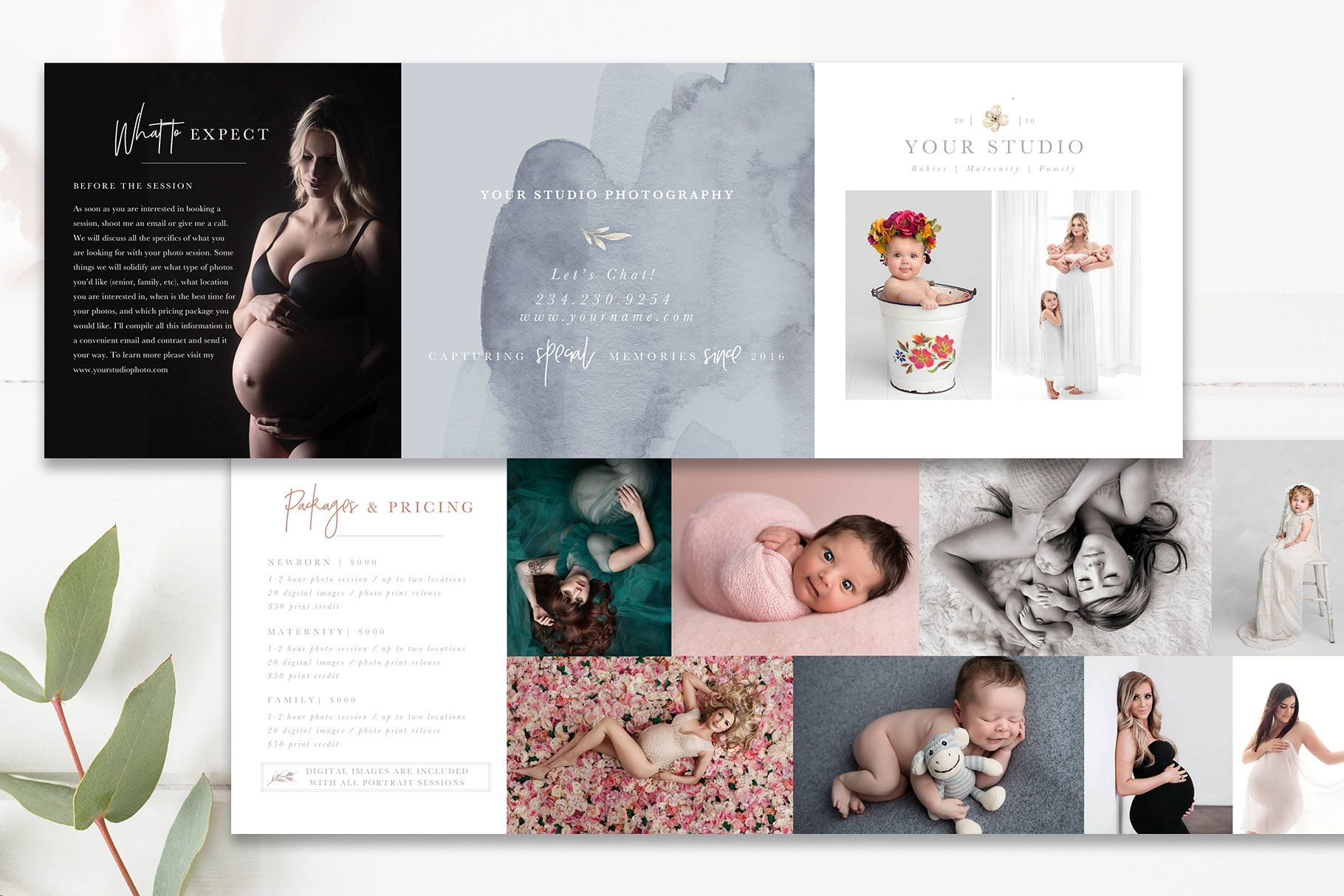Trifold Brochure Flyer Modern High End 5x5 Trifold Accordion Template To Use With Whcc Specs Trifold Brochure Rack Card Templates Photoshop Template Design