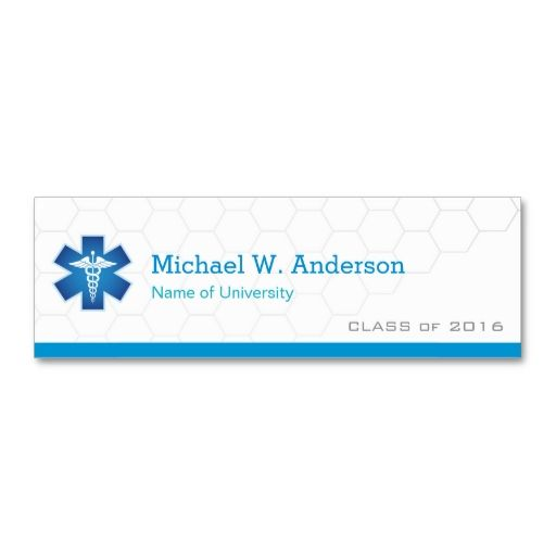 Medical School Student Graduation Name Card Business This Great Design Is Available For Customization All Text Style Colors Sizes Can
