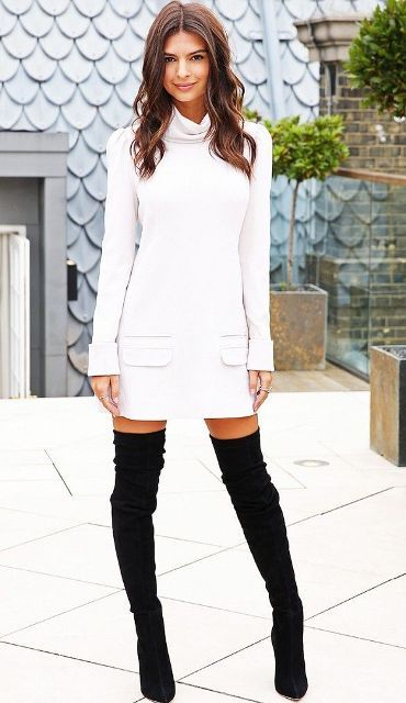 20 Fall Outfits With Thigh-High Boots To Try This Season | Street ...