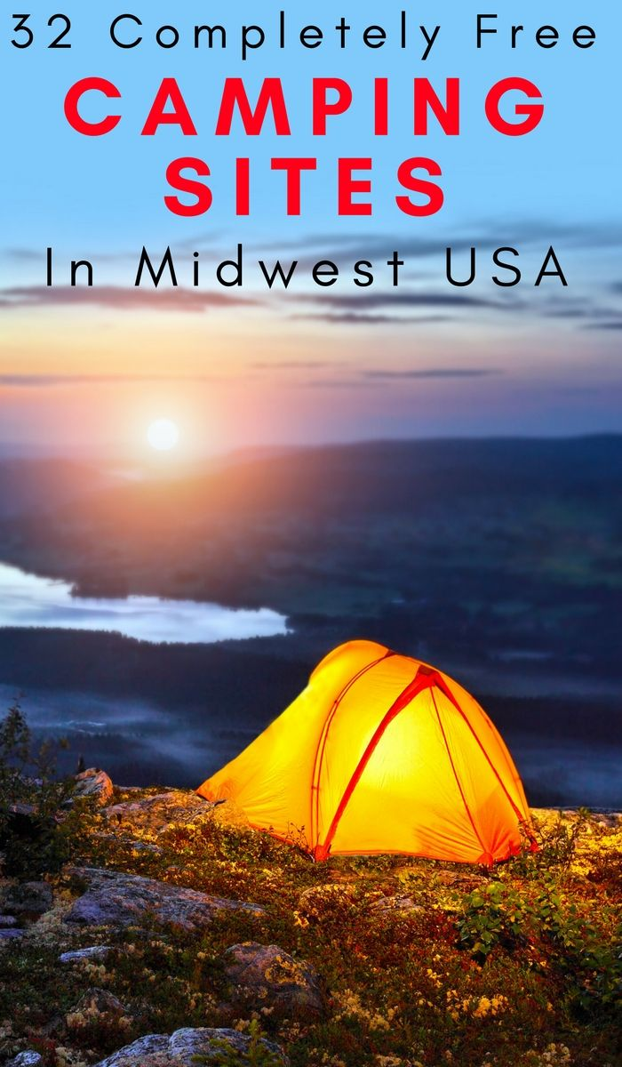 Photo of 32 of The Best Free Camp Sites in the Midwest USA