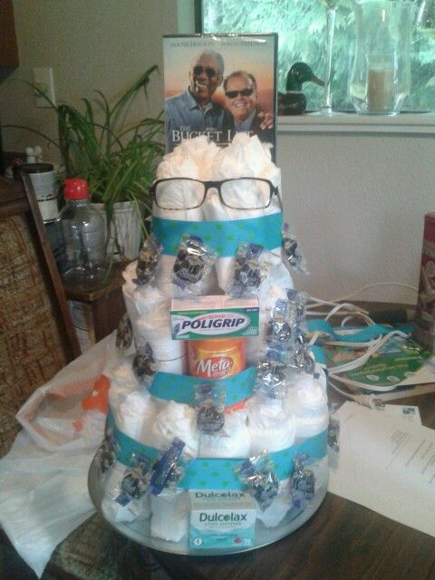 Adult Diaper Cake Gift Ideas Birthday Gag Gifts 50th