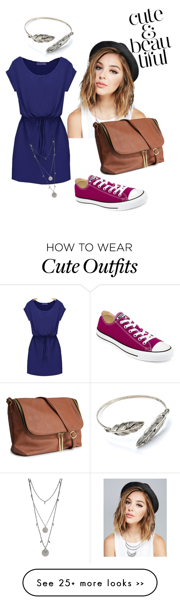 """outfit of the day - cute and beautiful"" by lil-lili on Polyvore featuring Wet Seal, H&M, Vince Camuto and Converse"