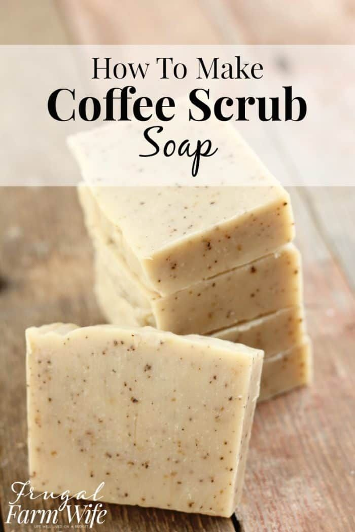 Homemade Coffee Scrub Soap Recipe | The Frugal Farm Wife