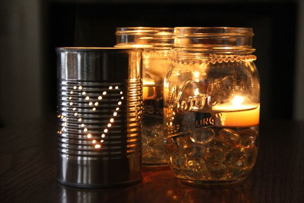 Mason Jar Centerpieces With Candles