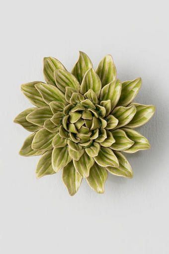 Green Ceramic Wall Decor Flower | live it up | Pinterest | Wall ...