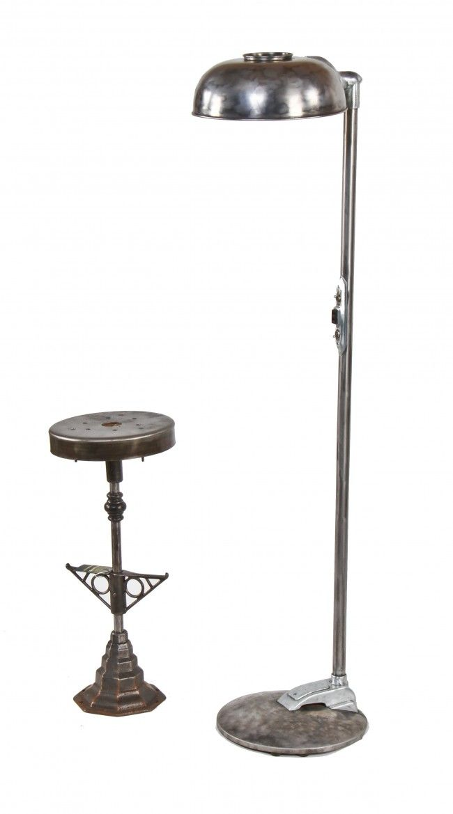 Refinished C 1940 S Vintage American Medical Freestanding Brushed Steel Hospital Examination Floor Lamp With Swivel Shade Or Ref Lamp Period Lighting Lighting