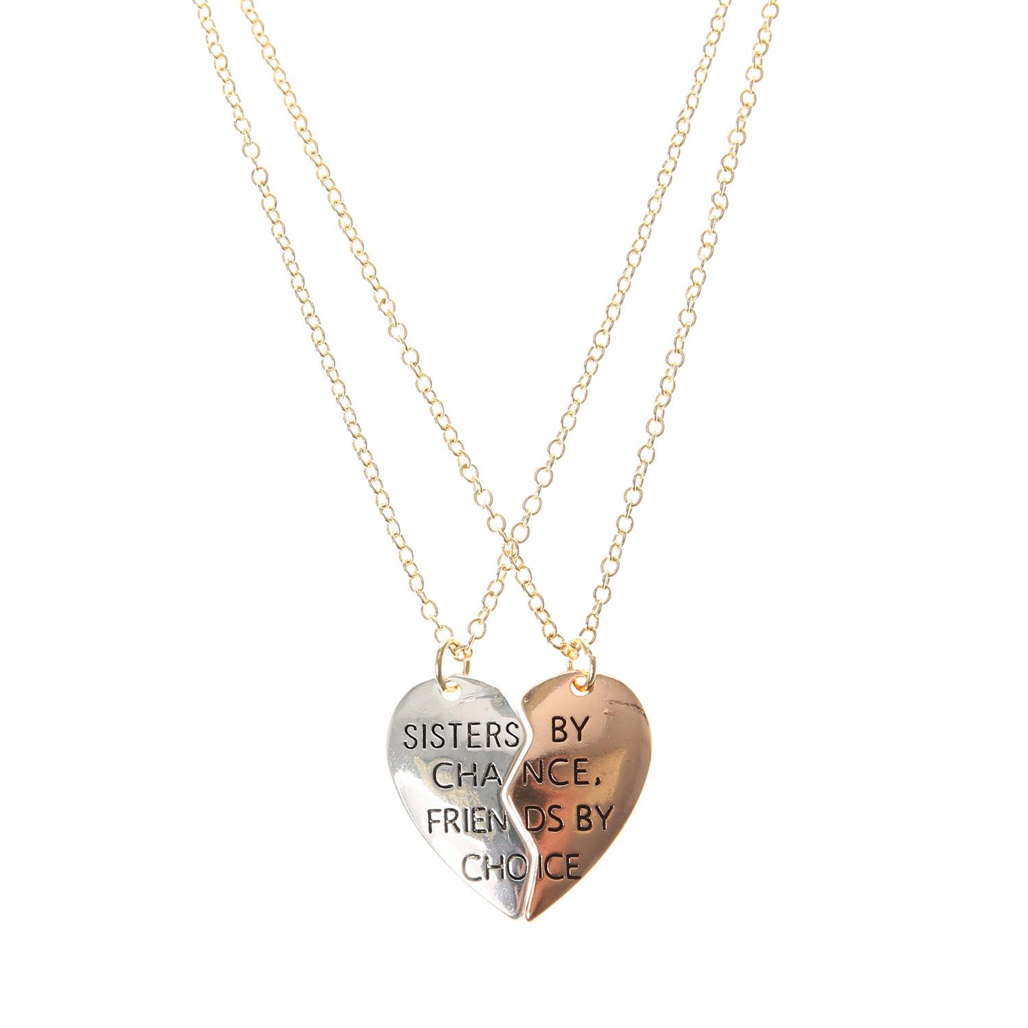 Sisters By Chance Friends By Choice Necklace Necklaces all