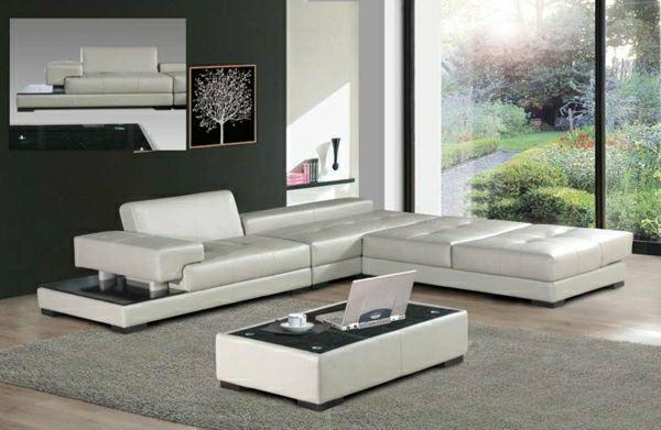 Cool design moderni per la decorazione del salotto con divani in pelle arredamenti casa - Divani moderni in pelle design ...