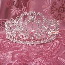 New Handmade Silver Crystal Beading Wedding Bridal Hair Accessory Tiara Crowns : Want more? https://bitly.com/showmemorepls