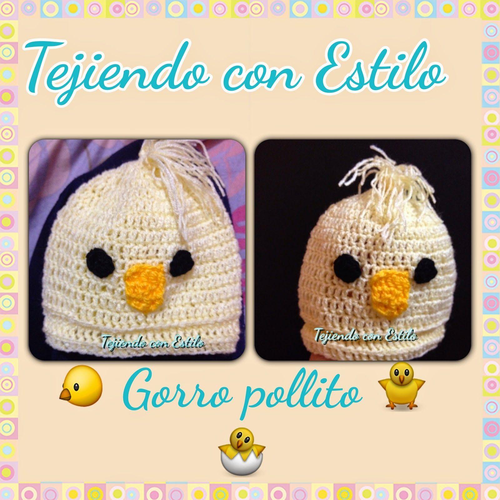 Tejiendo con Estilo: Gorro pollito para bebé a crochet #pollito ...