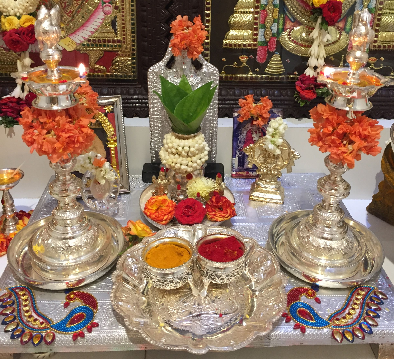 Sliver items | Silver pooja items, Goddess decor, Pooja ...
