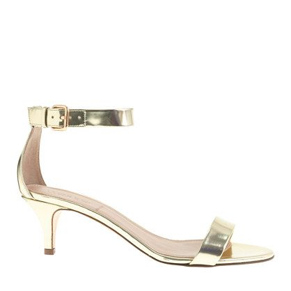 3441aa8b8d6 J.Crew - Mirror metallic kitten-heel sandals